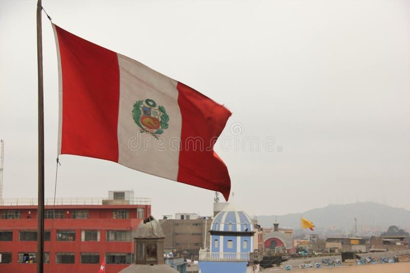 Peruviaanse vlag royalty-vrije stock afbeeldingen
