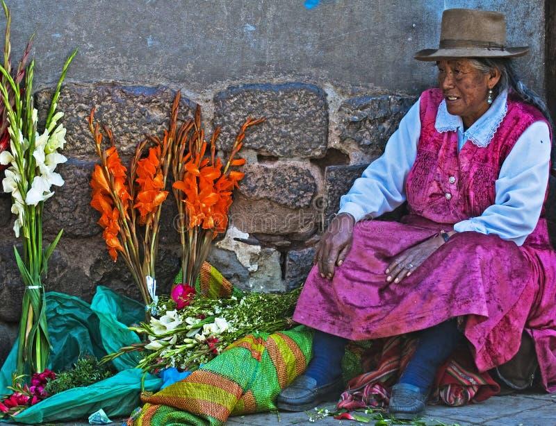 Peruviaanse vrouw stock fotografie