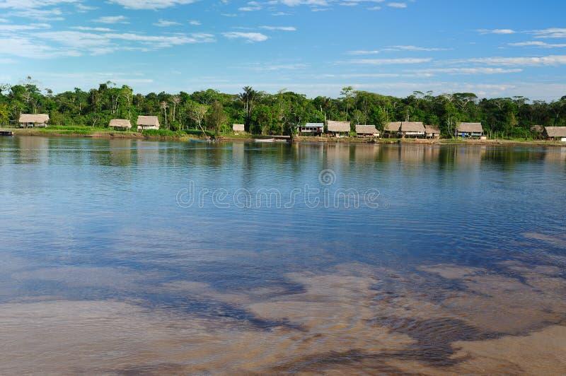Peruvian Amazonas, Amazon river landscape royalty free stock photo