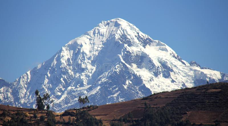 Peruvian Andes. Nevado Veronica, a glacier covered mountain in the Peruvian Andes near Cuzco royalty free stock photo