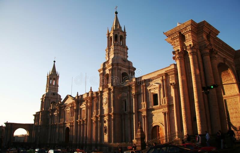 Peruvian city Arequipa stock image
