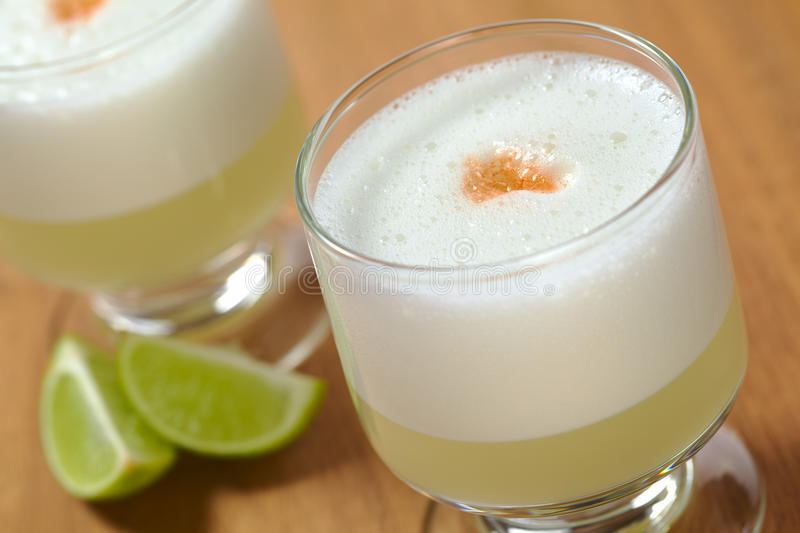 Peruvian Cocktail Called Pisco Sour royalty free stock photo