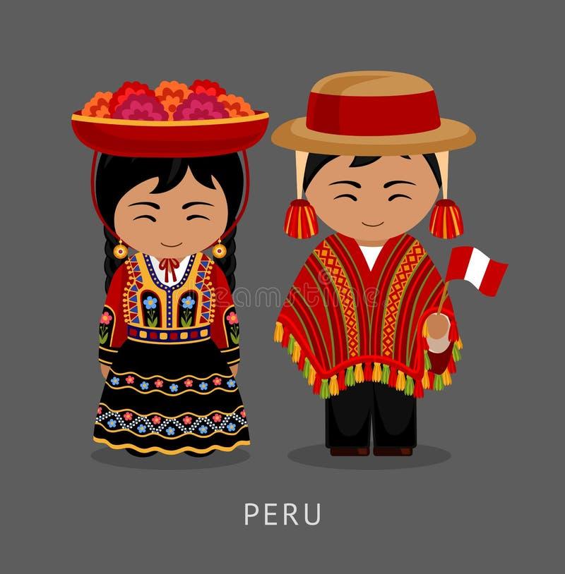 Peruvian en vestido nacional libre illustration