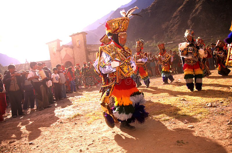 Peruvian festival royalty free stock images