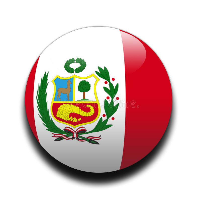 Download Peruvian flag stock illustration. Image of globe, peruvian - 65203