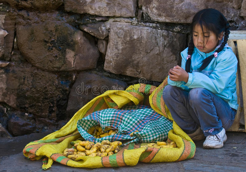 Peruvian girl royalty free stock image