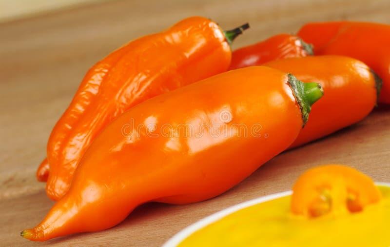 Peruvian Hot Pepper Called Aji royalty free stock photo