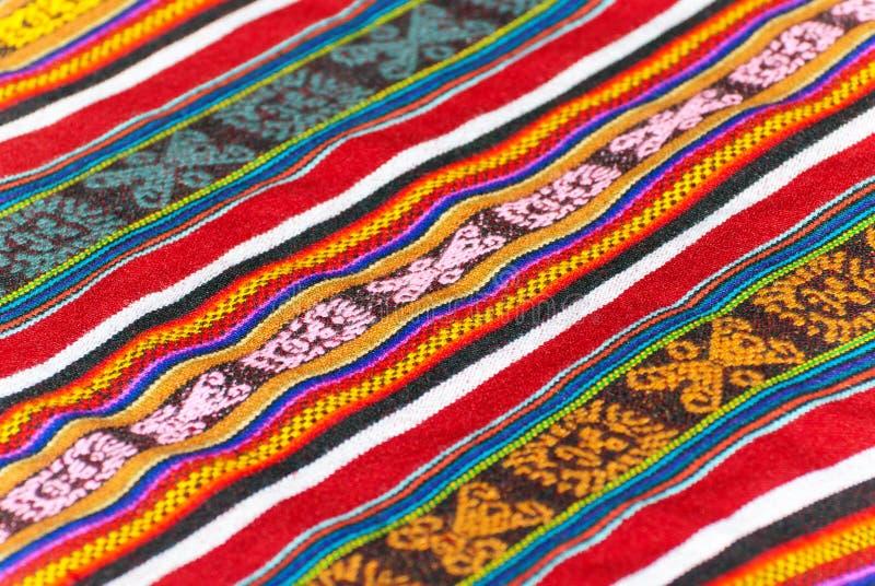 Peruvian kolorowy dywanik obrazy stock