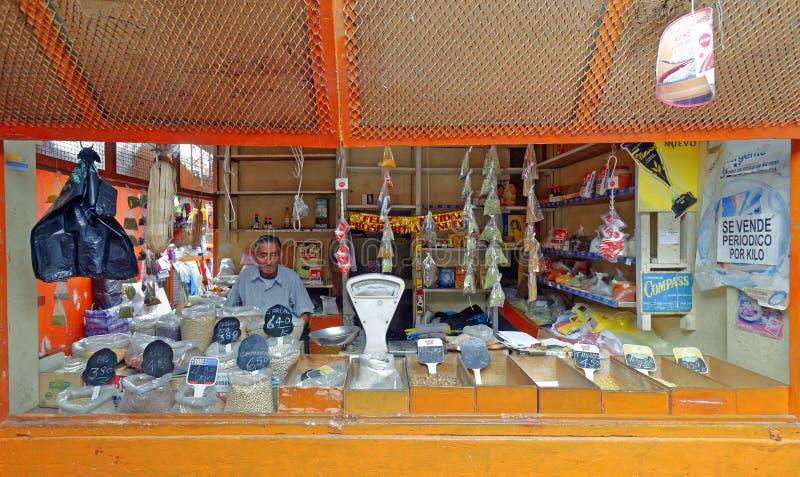 Peruvian market stall stock photography