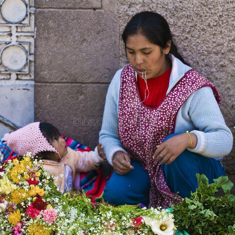 Peruvian mother stock photography