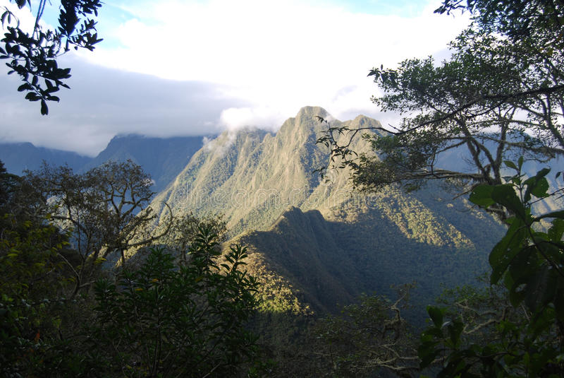 Peruvian mountain Inca Trail royalty free stock image