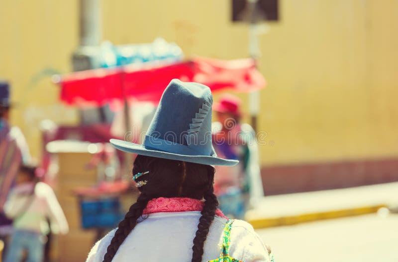 Peruvian people stock image