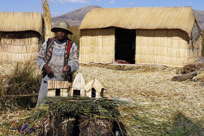 Peruvian rodzimy mężczyzna obraz stock