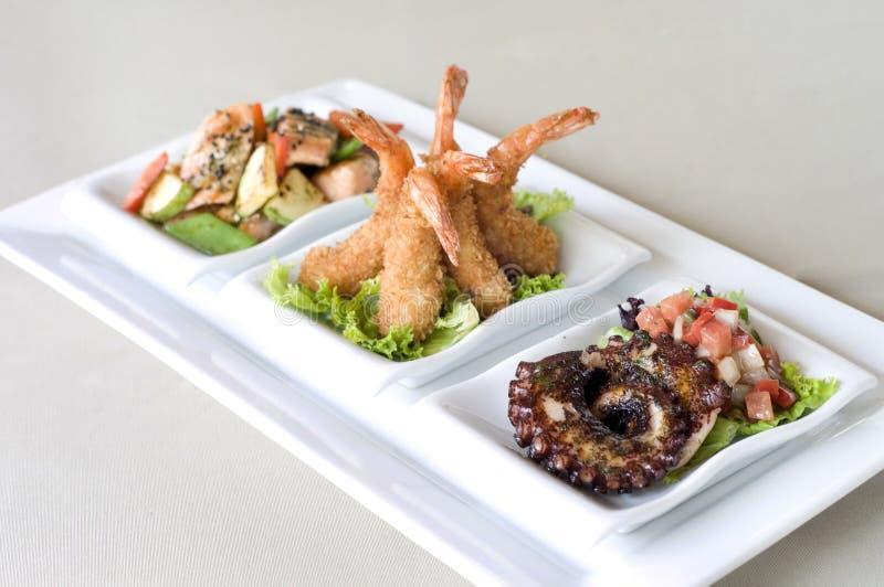 Peruvian sea food dish stock photo