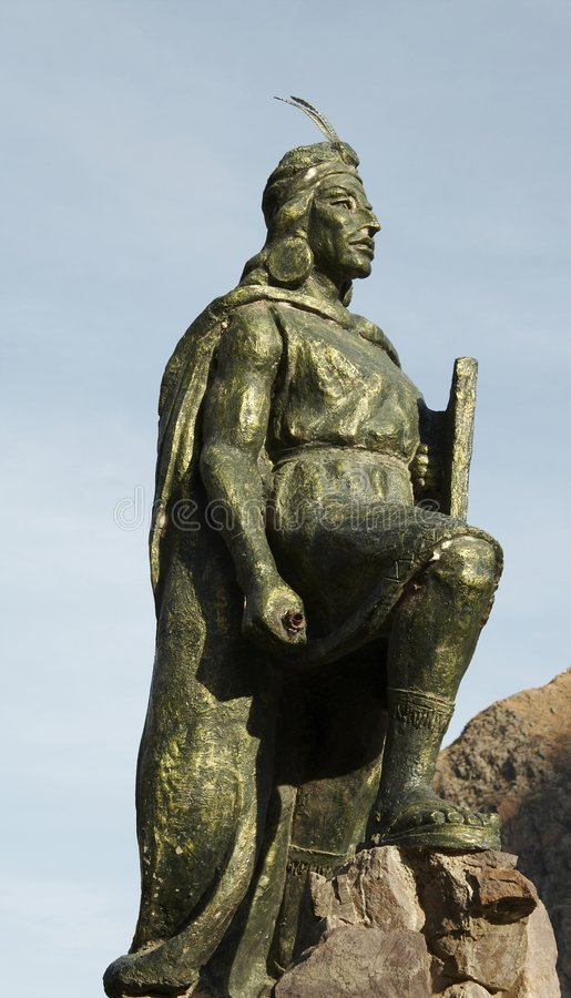 Peruvian statue stock image