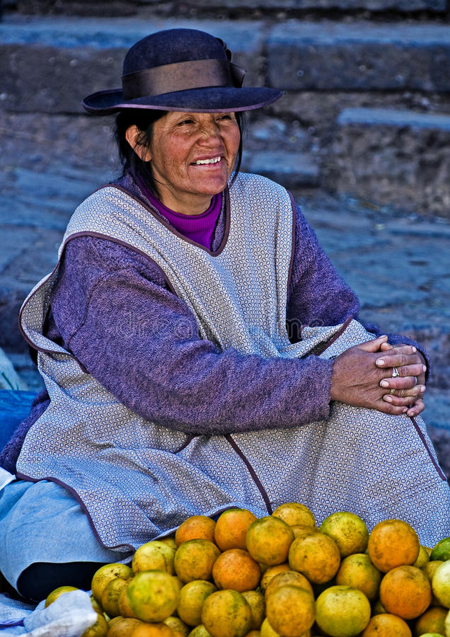 Peruvian woman royalty free stock photo