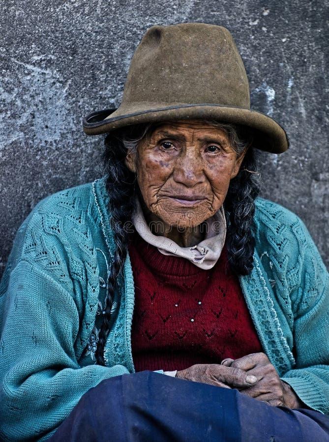 Peruvian woman royalty free stock images