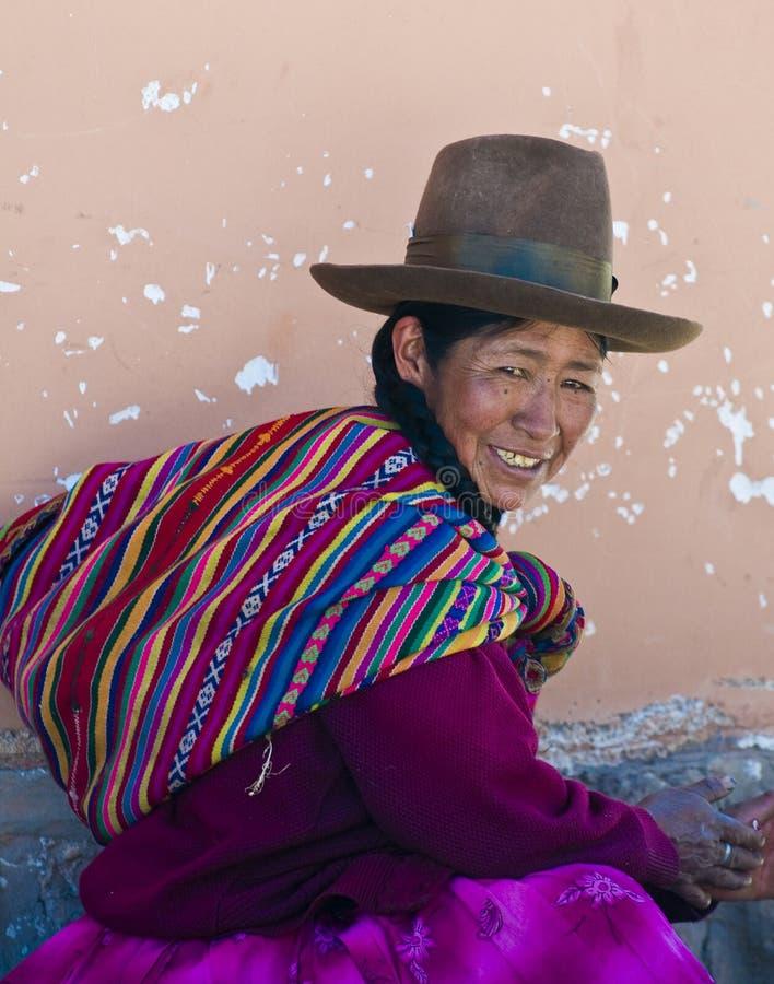 Peruvian woman stock photos