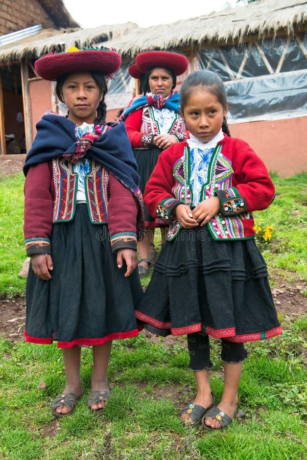 Peruwiańscy ludzie, kobiety, Peru podróż obraz royalty free
