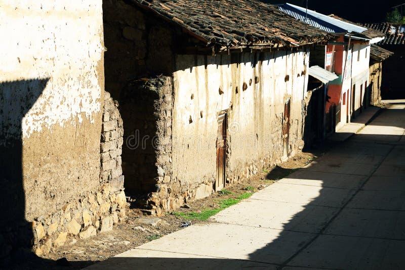 Peruwiańska górska wioska obraz stock