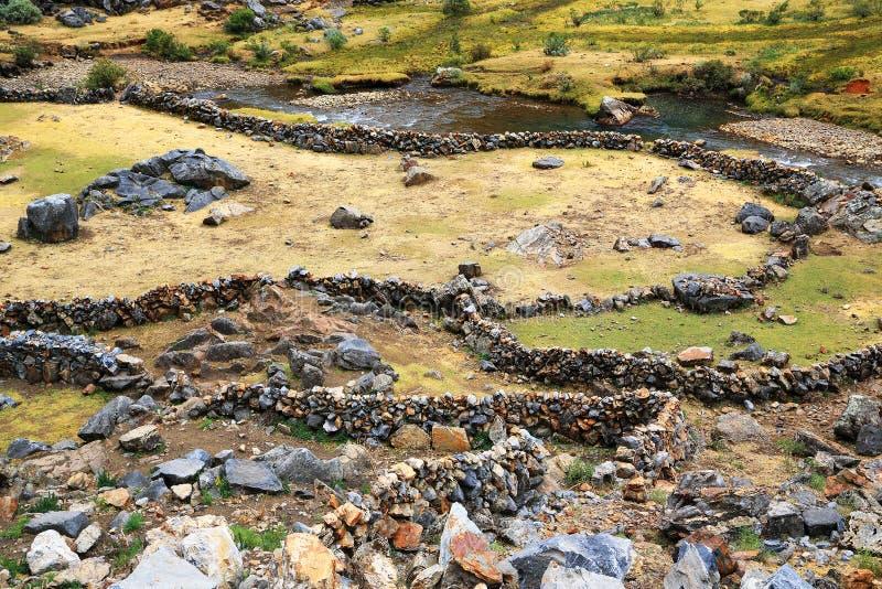 Peruwiańska górska wioska zdjęcia stock