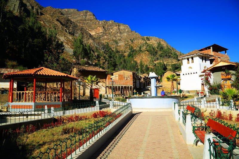 Peruwiańska górska wioska fotografia royalty free