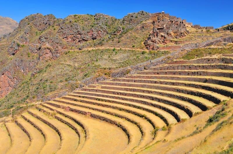 Peruwiańska wioska Święta dolina na Urubamba rzece, Pis obrazy stock