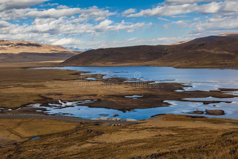 Peruwiański Andyjski krajobraz zdjęcia stock