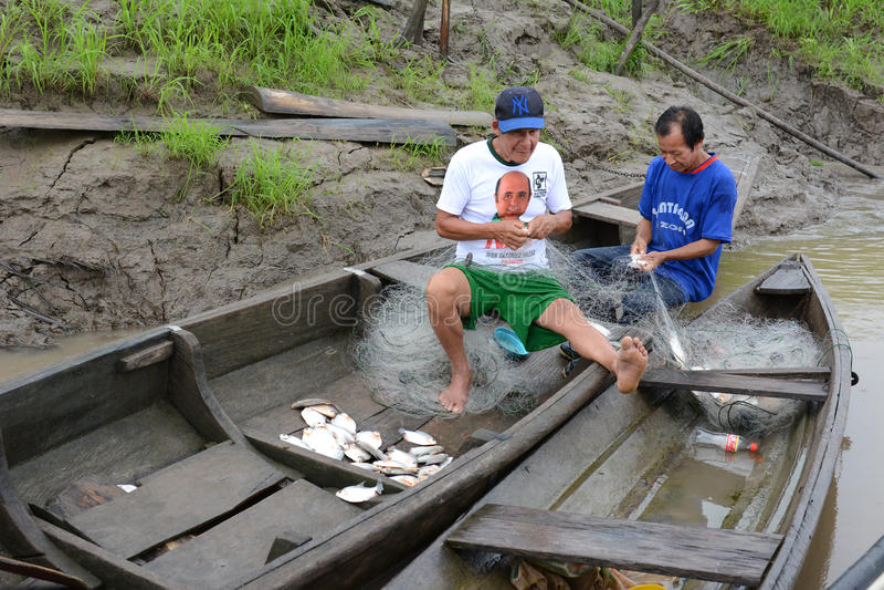 Peruwiański rybak obraz royalty free