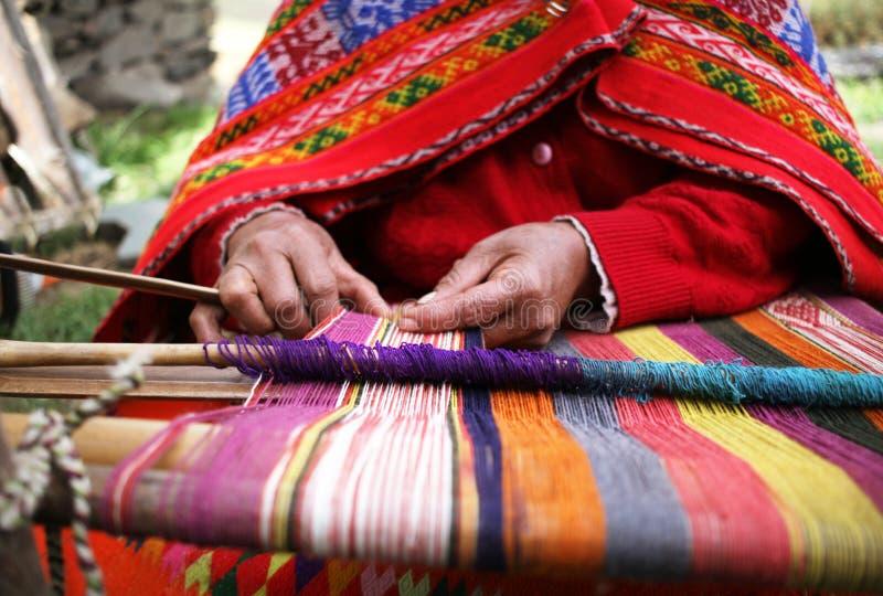 Peruwiański tkactwo zdjęcia royalty free