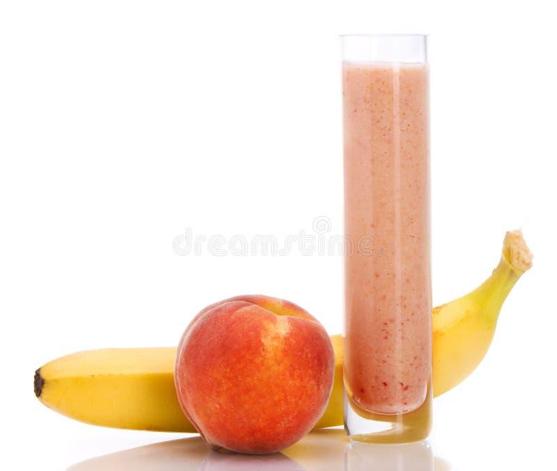 Perzik smoothie royalty-vrije stock afbeelding