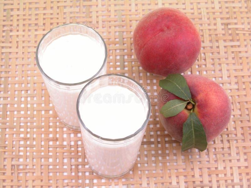 Perzik smoothite stock foto