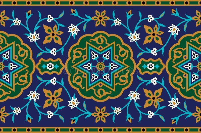 Perzisch Complex Naadloos Patroon vector illustratie