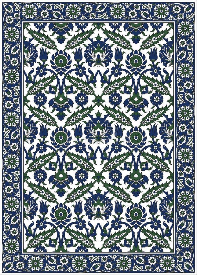 Perzisch gedetailleerd vectortapijt royalty-vrije stock afbeelding