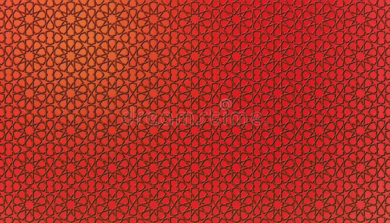 Perzisch patroon in rode kleur Mashribiya- 21 Juli 2017 vector illustratie