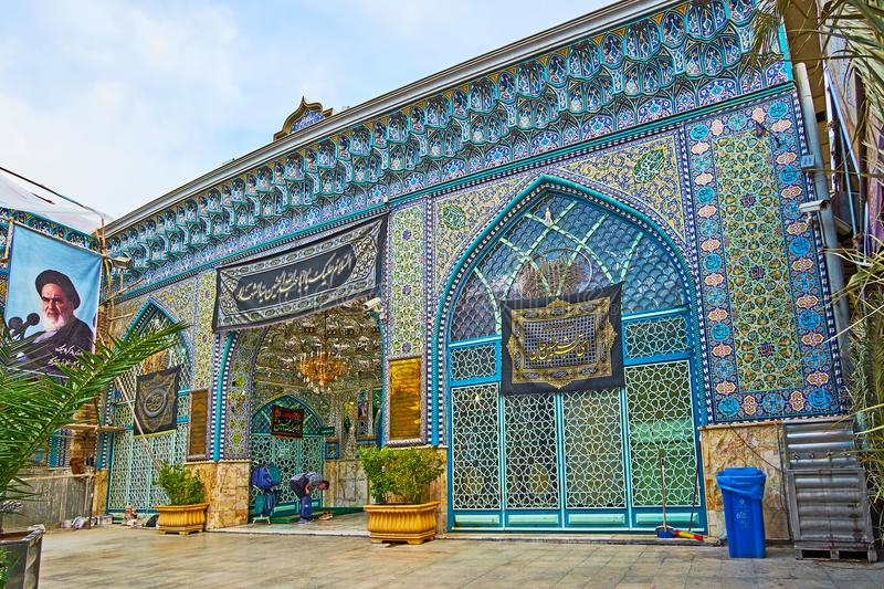 Perzische patronen van het Heilige Heiligdom van Emamzadeh Zeyd, Teheran stock foto's