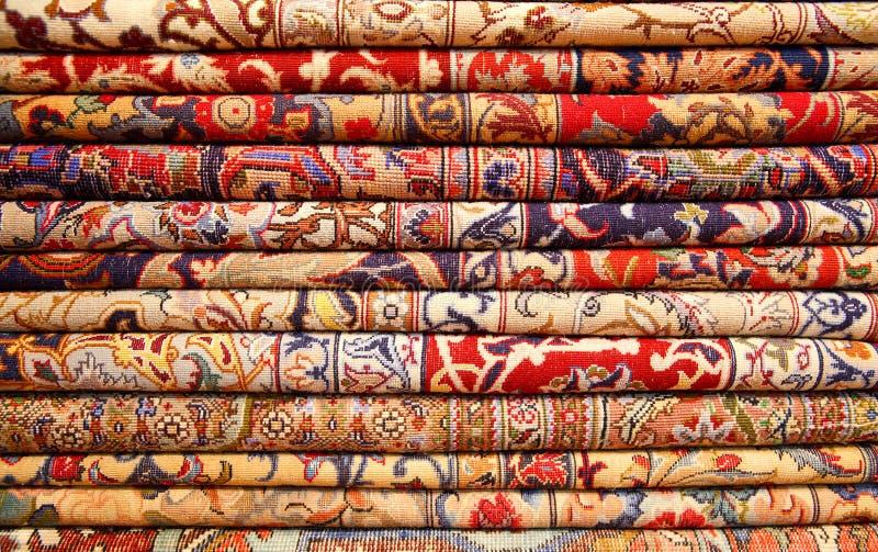 Perzische tapijten stock afbeeldingen