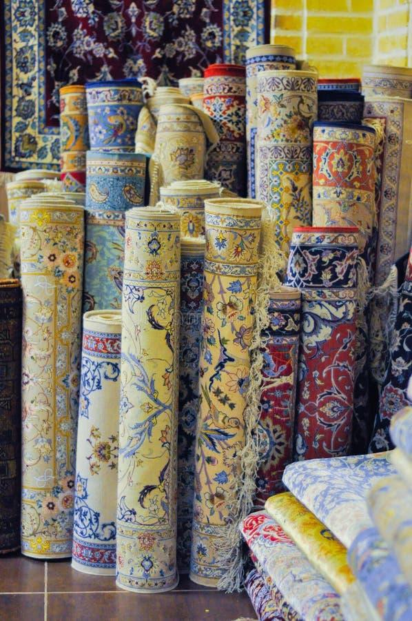 Perzische tapijten in Iran royalty-vrije stock afbeelding