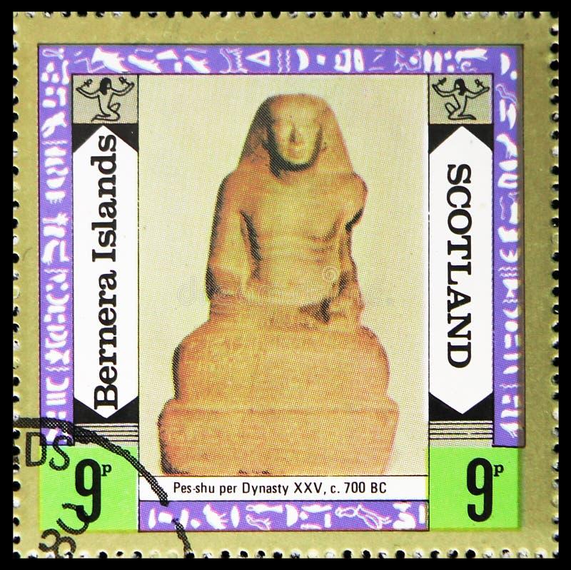 Pes-shu в династию, острова Bernera, serie Staffa Шотландии, около 1980 стоковая фотография