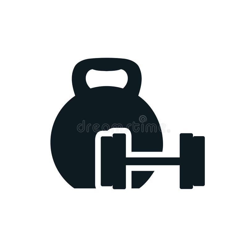 Pesa de gimnasia, icono de los pesos - libre illustration