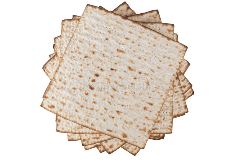 Pesach Matzot. Matzot for pesach pile isolated on white background stock photography