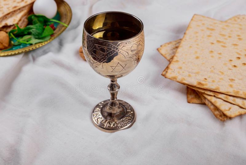 Pesach Passover symbols of great Jewish holiday. Traditional matzoh. Pesach symbols of great traditional jewish holiday passover matzoh judaism unleavened bread stock photos