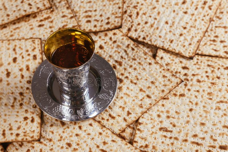 Pesach Passover symbols of great Jewish holiday. Traditional matzoh. Pesach symbols of great traditional jewish holiday passover matzoh judaism unleavened bread stock photography