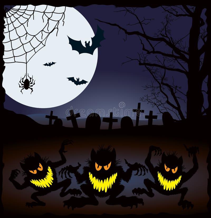 Pesadelo de Halloween ilustração royalty free