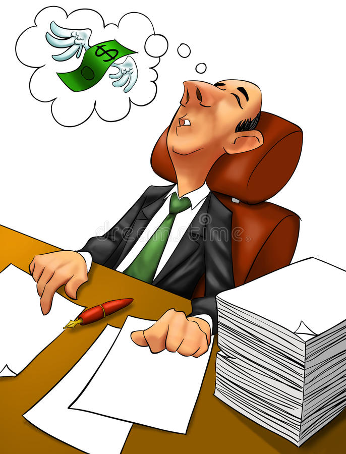Pesadelo executivo ilustração royalty free