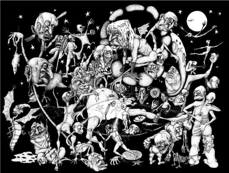 pesadilla stock de ilustración