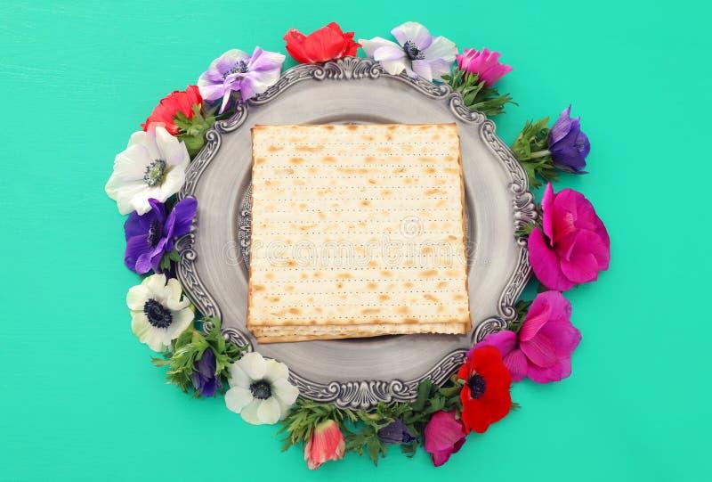 Pesah berömbegrepp & x28; judisk påskhögtidholiday& x29; Bästa sikt, lekmanna- lägenhet royaltyfri fotografi