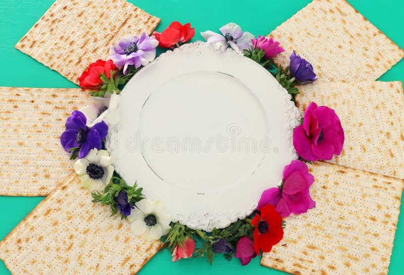 Pesah berömbegrepp & x28; judisk påskhögtidholiday& x29; Bästa sikt, lekmanna- lägenhet arkivfoto