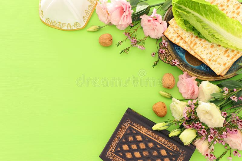 Pesah celebration concept jewish Passover holiday. royalty free stock image