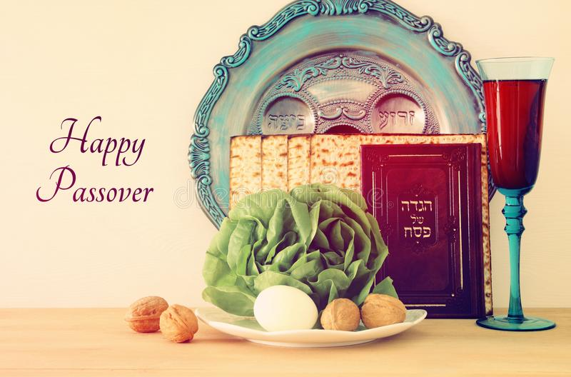 Pesah celebration concept & x28;jewish Passover holiday& x29; stock photo